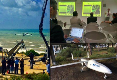 SASEMAR prueba un dron de la EMSA para labores de vigilancia anticontaminación, búsqueda y rescate