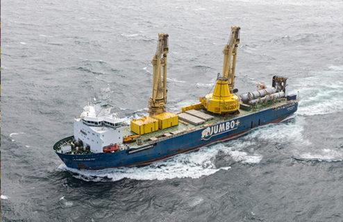 La realidad aumentada garantiza la estiba en cubierta en buques de carga pesada