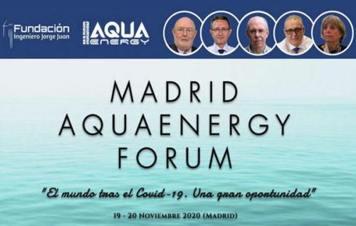 Madrid celebrará Aqua Energy fórum 2020 los días 19 y 20 de noviembre